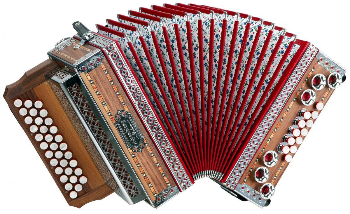 """Alpenklang 3/II Harmonika """"Deluxe"""" G-C-F Nuss"""