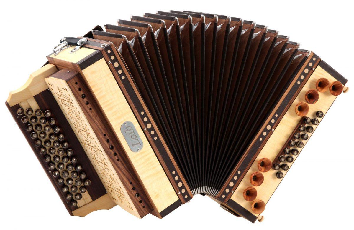 Loib Harmonika IVD Ahorn B-Es-As-Des H-Bass X-Bass Holzverdeck